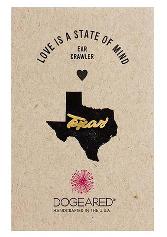 DOGEARED Love Is A State Of Mind Texas Crawler Earring