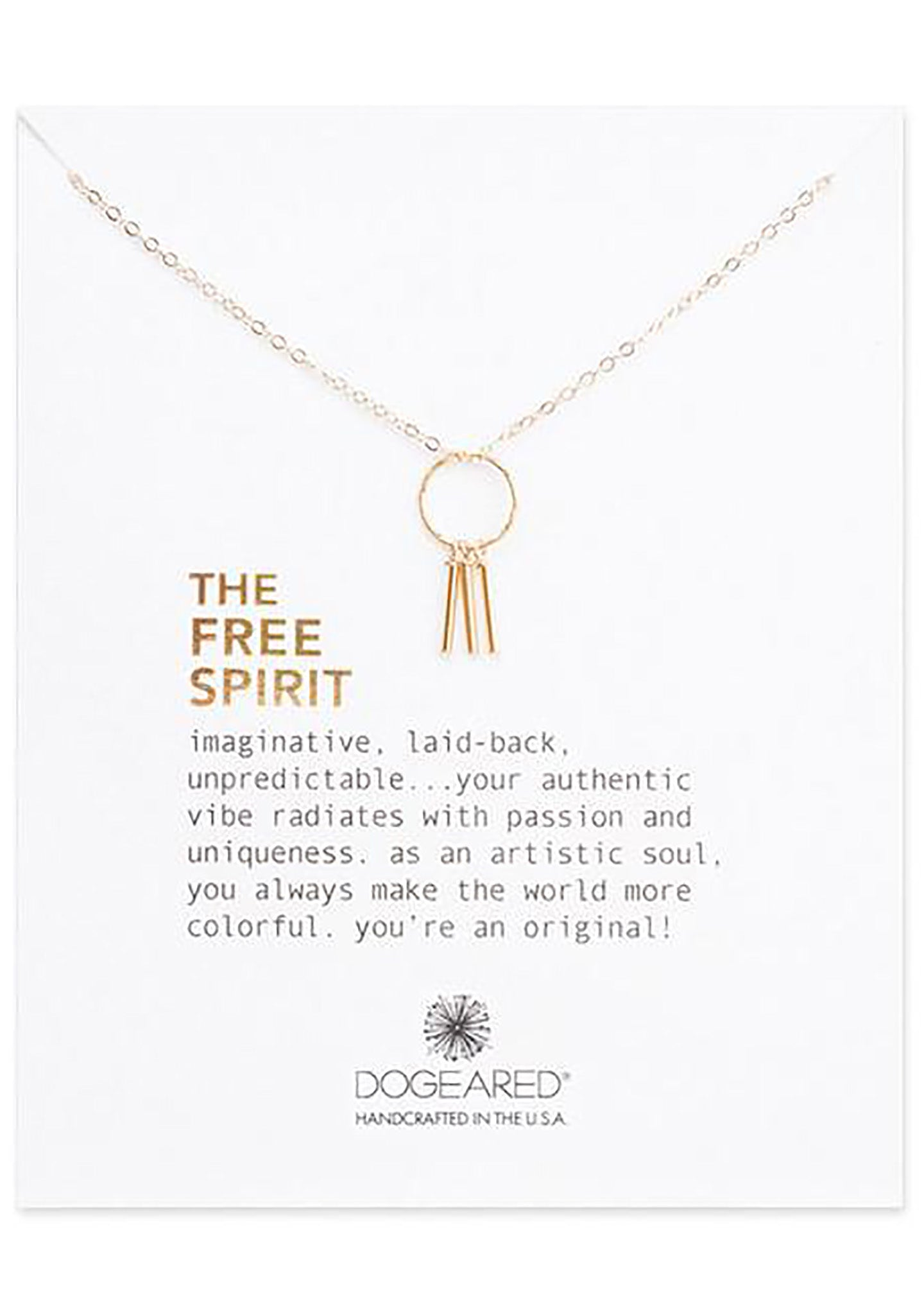 DOGEARED The Free Spirit Dream Catcher Necklace