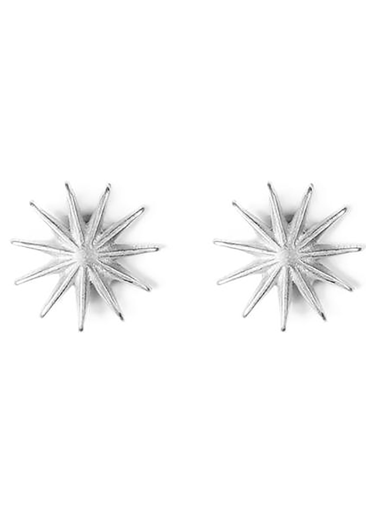 DOGEARED It's The Little Things Starburst Earrings in Silver