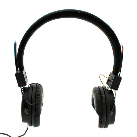 Mesh Stereo Headphones in Black