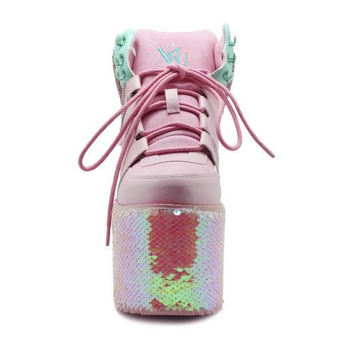 Y.R.U. Qozmo Hi Mermaid Platform Sneakers