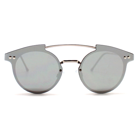 Spitfire Trip Hop Flat Lens Sunglasses in Silver Mirror