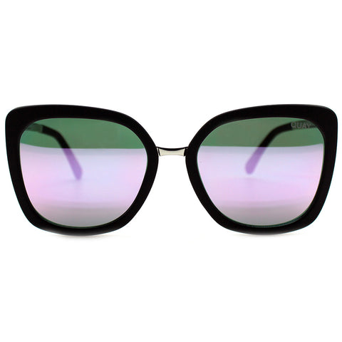Quay Australia Capricorn Sunglasses in Black/Pink