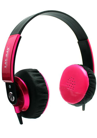 HD Stereo Headphones in Pink