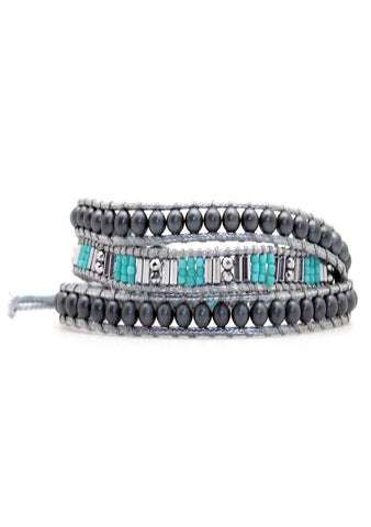 X Katie Soleil Northern Lights Triple Wrap Beaded Bracelet