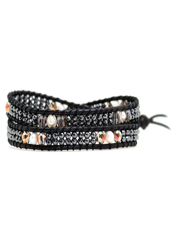 X Katie Soleil Beatrix Double Wrap Beaded Bracelet
