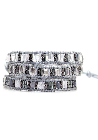 X Katie Soleil Blair Triple Wrap Beaded Bracelet