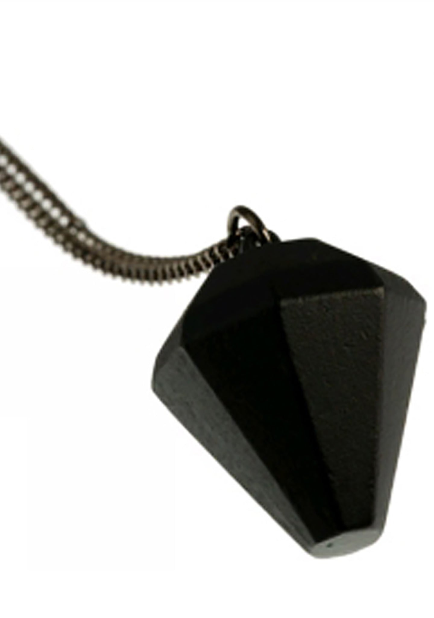 Timi 3D Diamond Pendant Necklace in Black