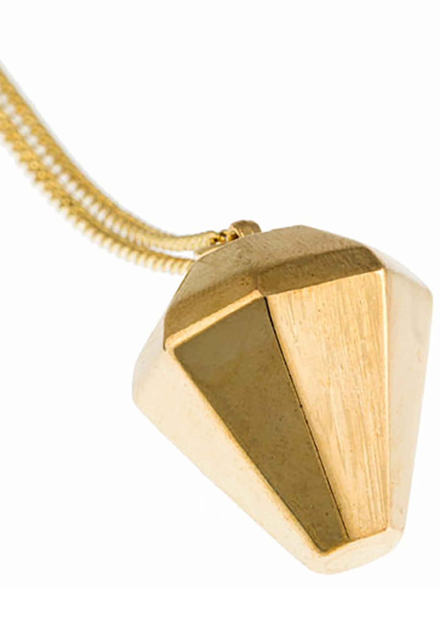 Timi 3D Diamond Pendant Necklace in Gold