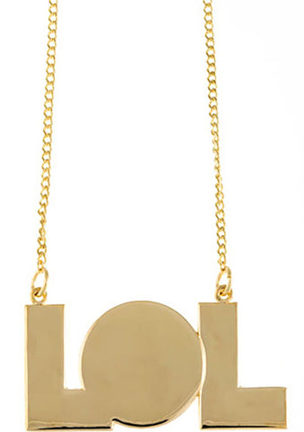 Timi LOL Nameplate Necklace in Gold
