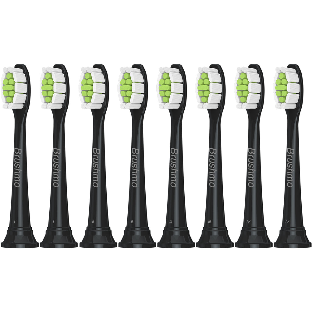 Brushmo premium replacement toothbrush heads for Philips Sonicare DiamondClean, Black