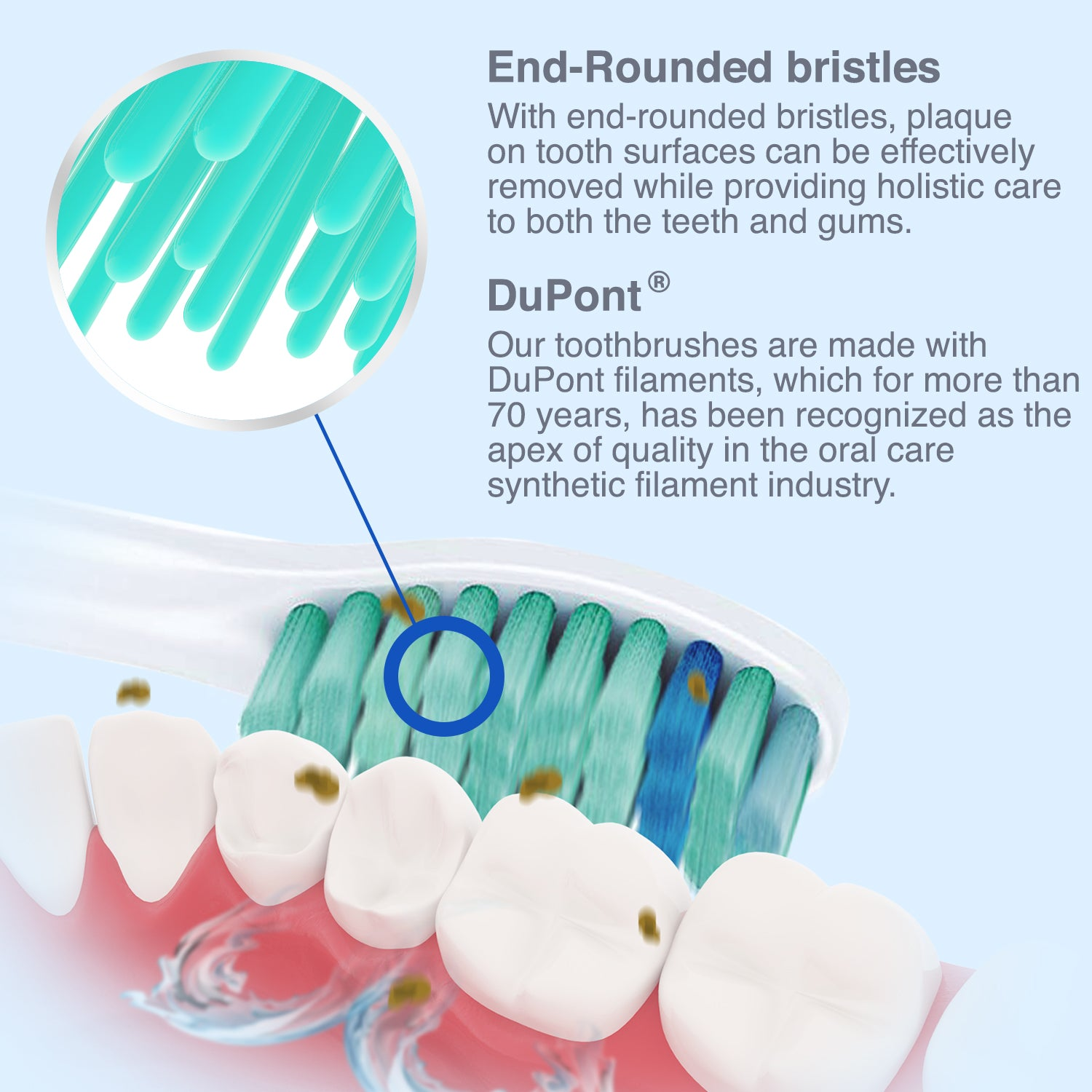 Brushmo Replacement Toothbrush Heads Compatible With Sonicare E-Series HX7022, 6 Pack, Fits Advance, CleanCare, Elite, Essence And Xtreme Brush Handles
