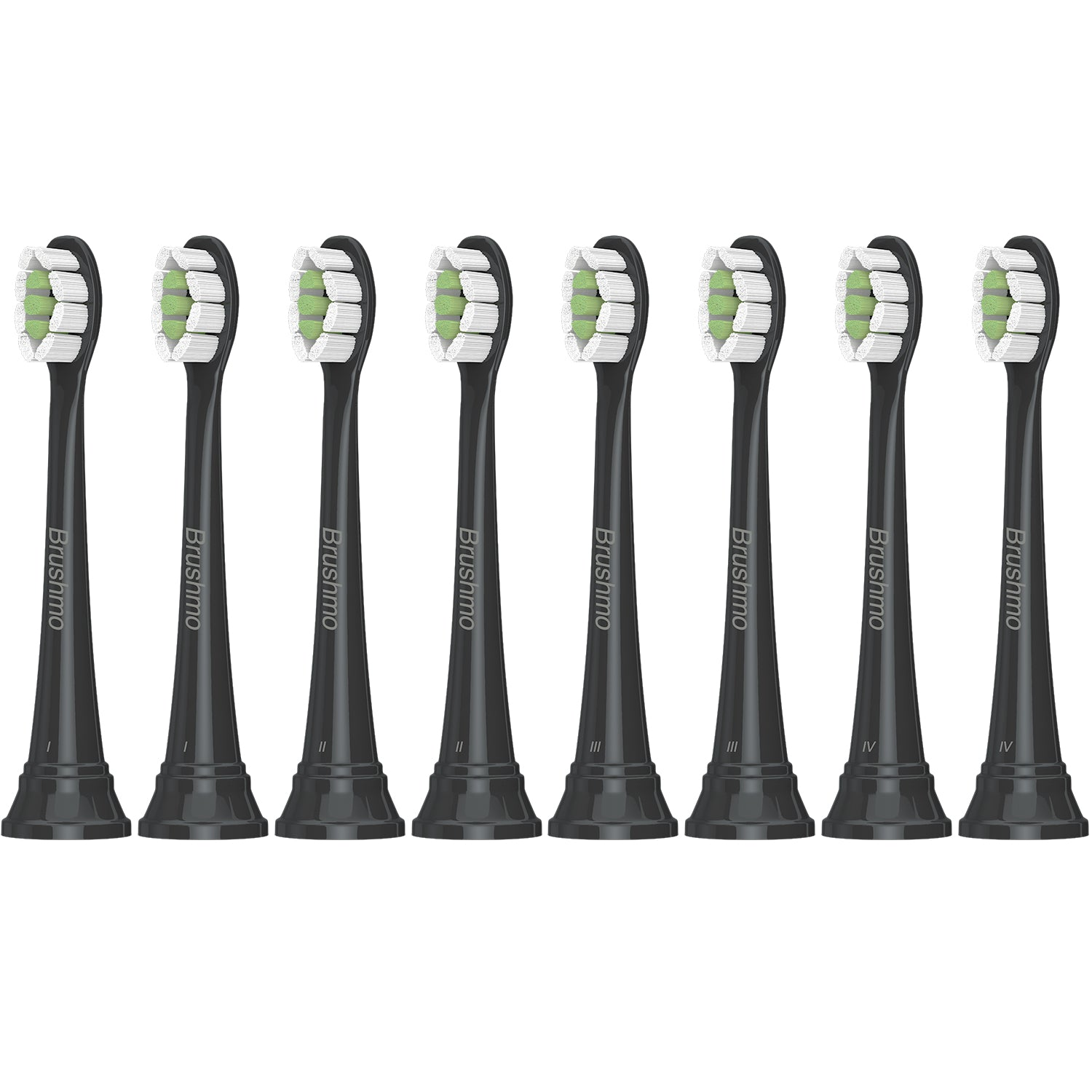 Brushmo compact replacement toothbrush heads for Philips Sonicare DiamondClean, Black