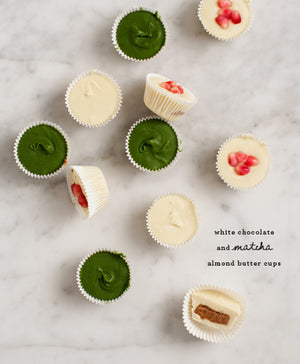 How To Make White Chocolate and Matcha Almond Butter Cups