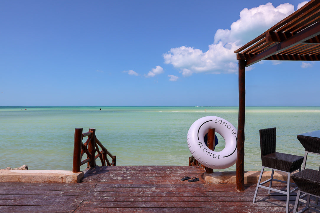 Isla Holbox with Loteli Blonde Pool Float