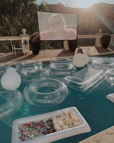Clear Float Pool Party