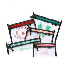 Jetsetter 5-in-1 Clear Cosmetic Bag Set (Multi-Colored)