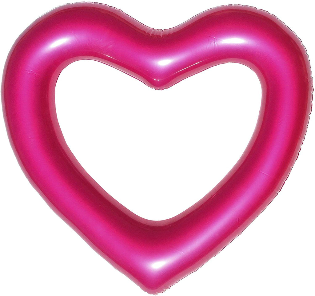 The Heart Float: Metallic Pink