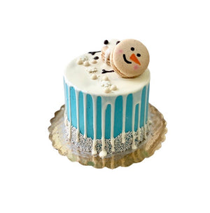 Melted Snowman Cake