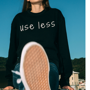 Cotton sweatshirt 'use less'