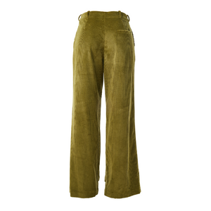 Olive corduroy Flat front pant