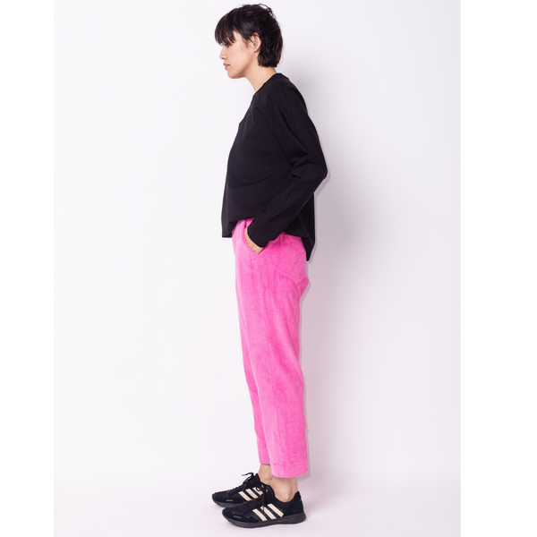 Pink Corduroy Pant with elastic back