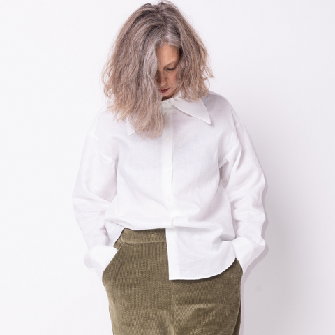 Big Collar Shirt Linen