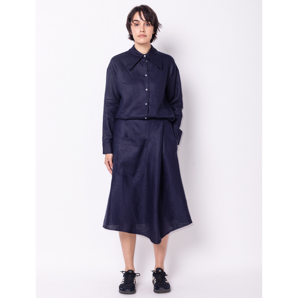 Big Pocket Skirt Linen