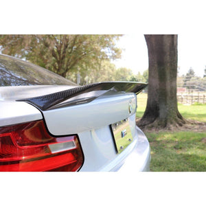 DINMANN BMW F22 2 SERIES CARBON FIBER REAR TRUNK LIP - AEUROPLUG