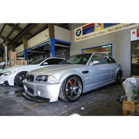 BMW E46 M3 CSL 1 PIECE CARBON FIBER FRONT LIP FOR CSL BUMPER ONLY - AEUROPLUG