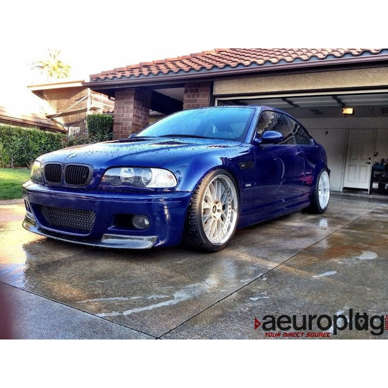e46 m3 csl 1 piece carbon fiber front lip for m3 bumper only