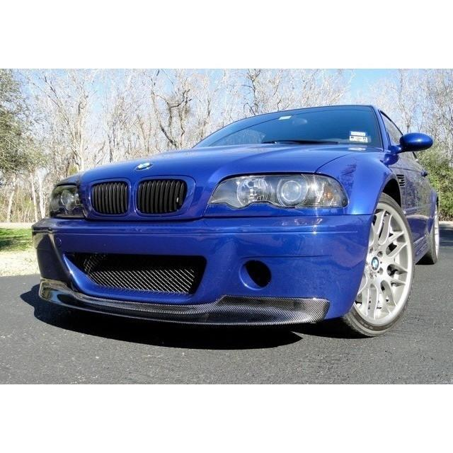 e46 m3 csl 1 piece carbon fiber front lip for csl bumper only