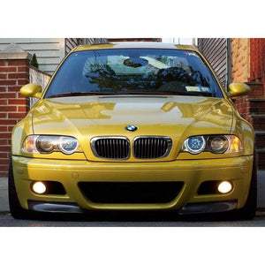 e46 m3 csl style carbon fiber splitters for oem e46 m3 bumpers