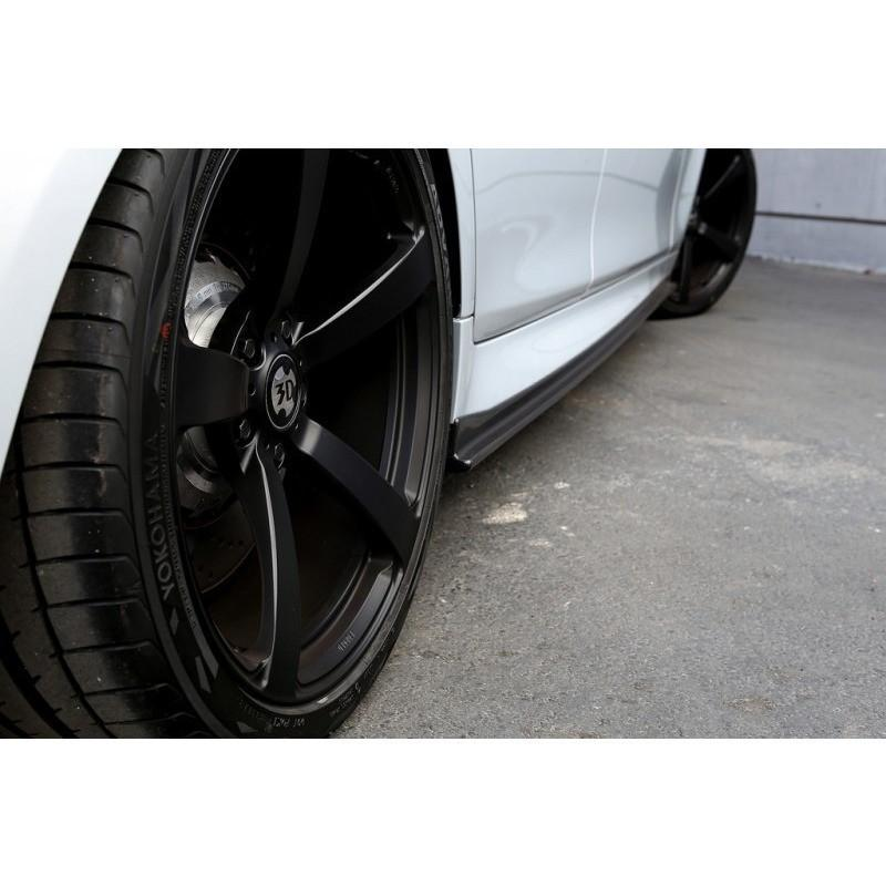 bmw f10 mtech 3d style carbon fiber side skirt extensions