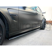 BMW F80 F82 M3 M4 CARBON FIBER SIDE SKIRT EXTENSIONS - AEUROPLUG