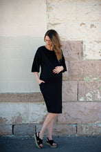Maternity Flutter Sleeve Dress