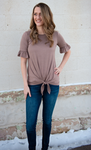 Tie Hem Top- 2 colors