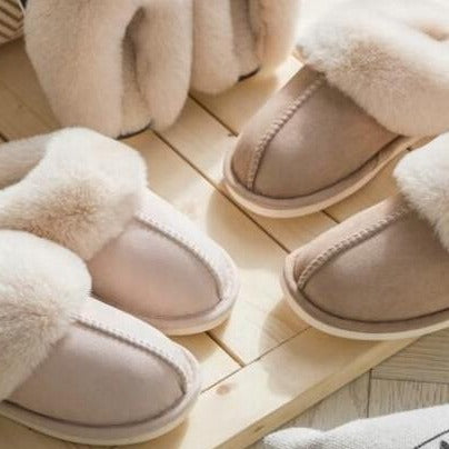 Faux Fur Slippers (Sizes 11-12 US)
