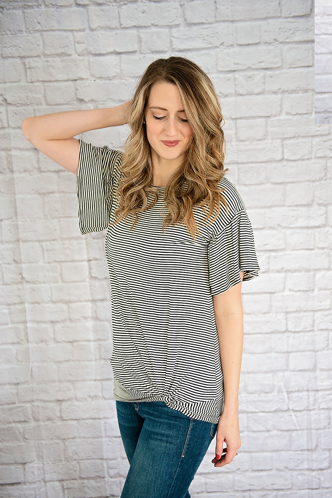 Flutter Sleeve Twist Tee