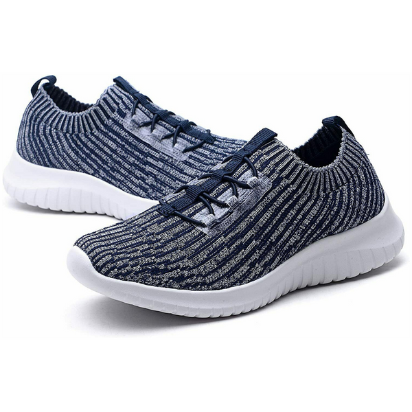 Knitted Slip-On Walking Shoes Sizes 10-13: Heather Gray