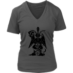 Baphomet -Women's V-Neck Shirt