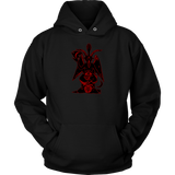 Baphomet ( Black/Red ) - Hoodie ( man / woman )