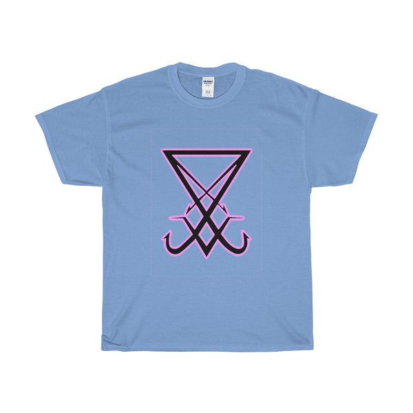 Lucifer Sigil - Large Front - White - Heavy Cotton T-Shirt