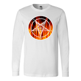 FLAME BAPHOMET SHIRT- Long Sleeve