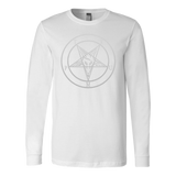 Trump baphomet - Canvas Long Sleeve Shirt
