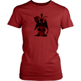 Baphomet ( red/ black )- Woman T-shirt
