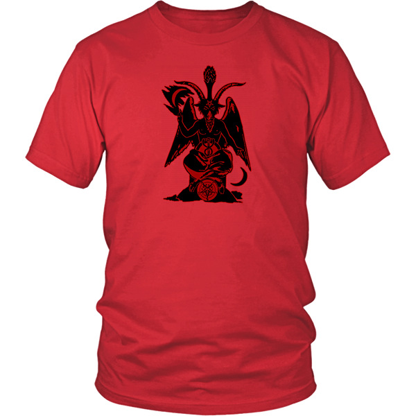 Baphomet ( Black/Red ) - Men T-Shirt