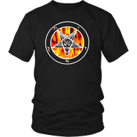 Baphomet Flame SIN Logo Shirt- Men and Women - Dual sided