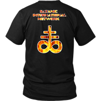 Baphomet and Brimstone Flames ( Dual Sided ) SIN Shirt