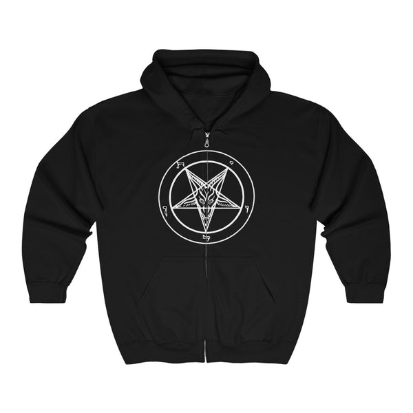 Baphomet Traditional - Heavy Blend™ Full Zip Hooded Sweatshirt